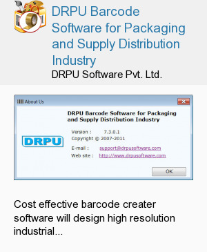 DRPU Barcode Software for Packaging and Supply Distribution Industry