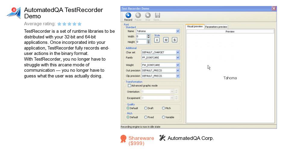 AutomatedQA TestRecorder Demo