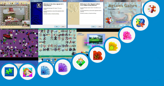 Software collection for Large Jigsaw Puzzle Templates