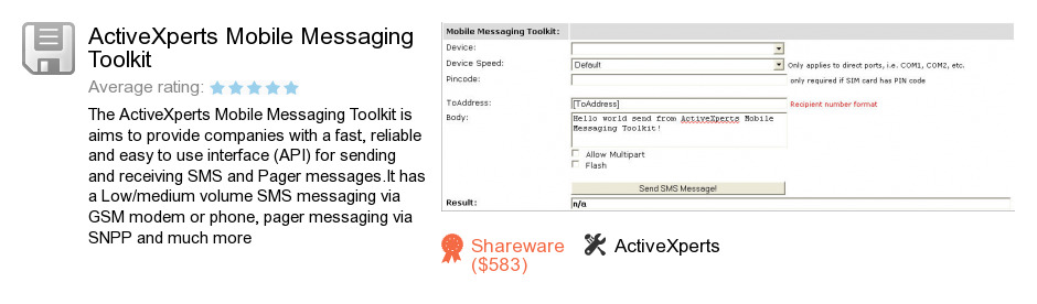 ActiveXperts Mobile Messaging Toolkit