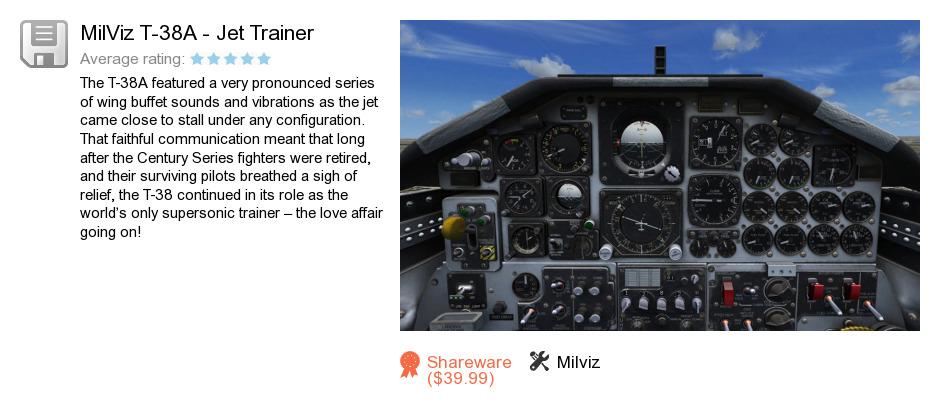MilViz T-38A - Jet Trainer