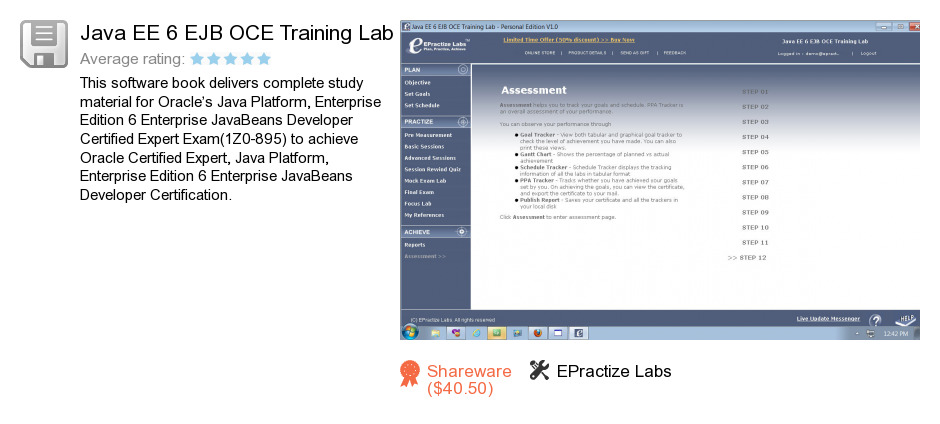 Java EE 6 EJB OCE Training Lab