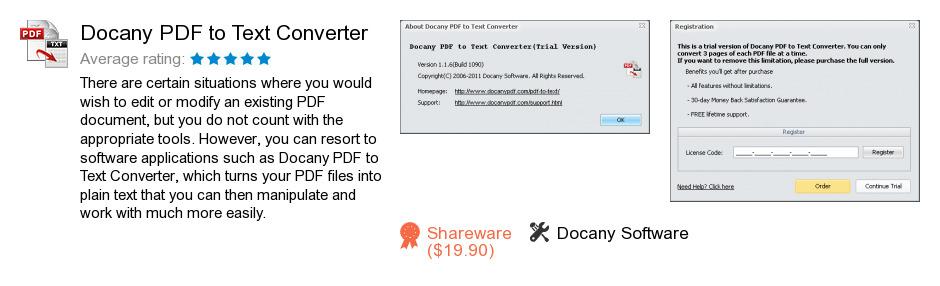 Docany PDF to Text Converter