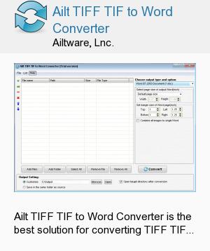Ailt TIFF TIF to Word Converter