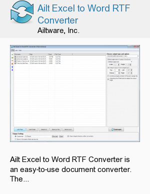 Ailt Excel to Word RTF Converter