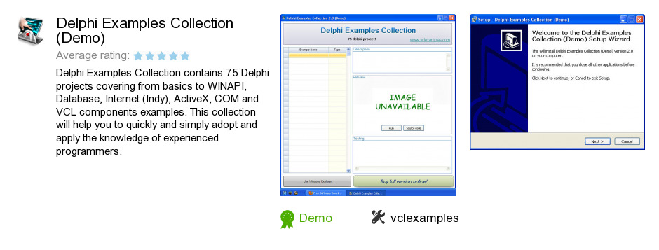 Delphi Examples Collection (Demo)