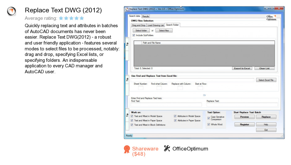 Replace Text DWG (2012)