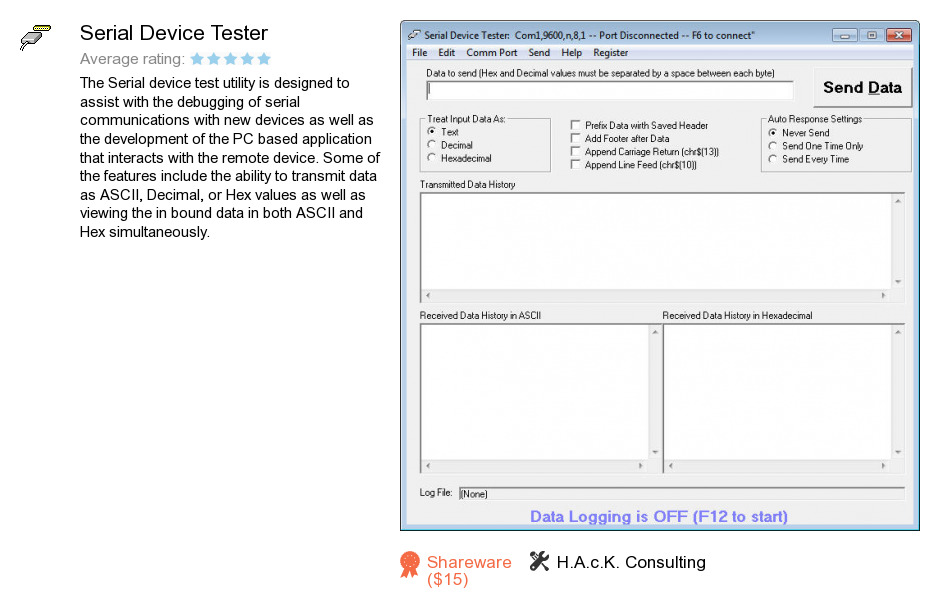 Serial Device Tester
