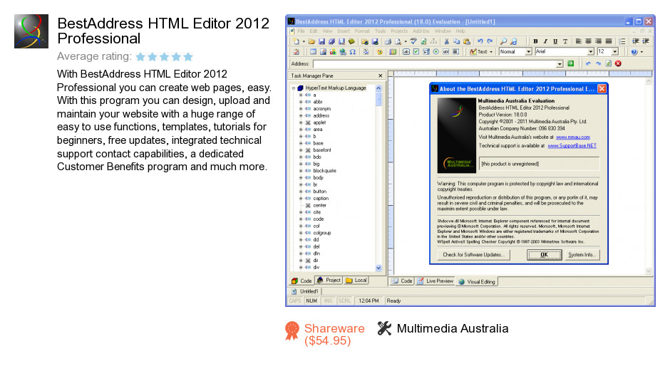 BestAddress HTML Editor 2012 Professional