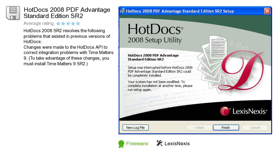 HotDocs 2008 PDF Advantage Standard Edition SR2