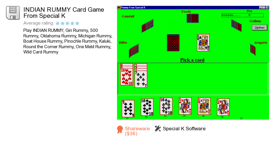 INDIAN RUMMY Card Game From Special K