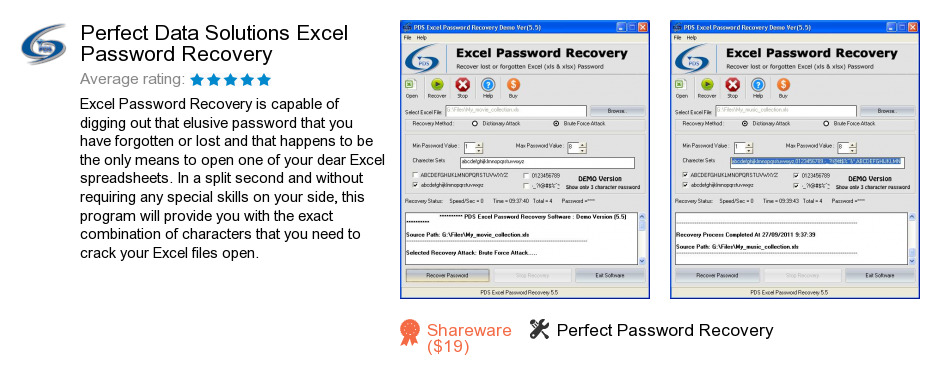 Perfect Data Solutions Excel Password Recovery