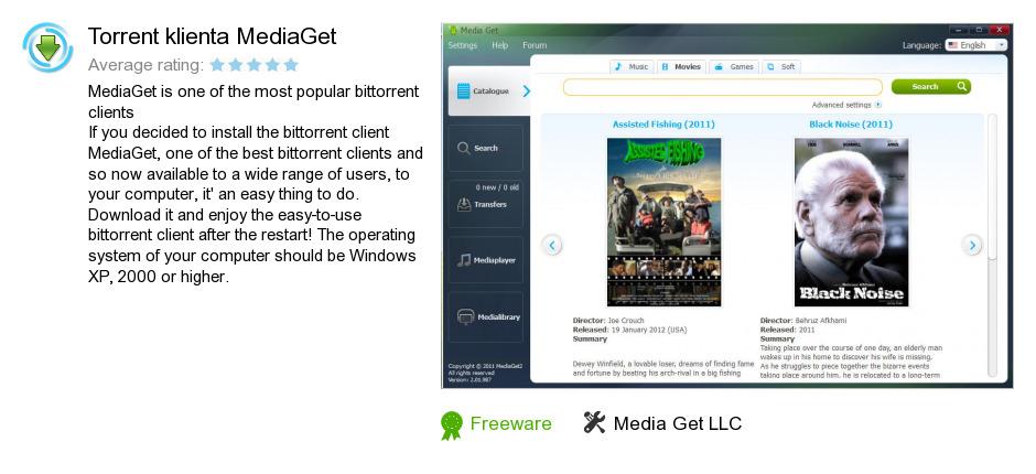 Torrent klienta MediaGet
