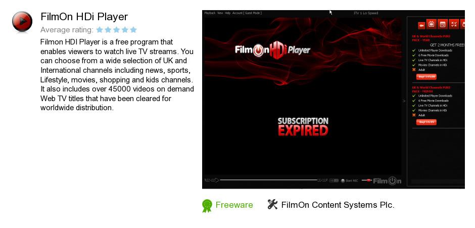 FilmOn HDi Player