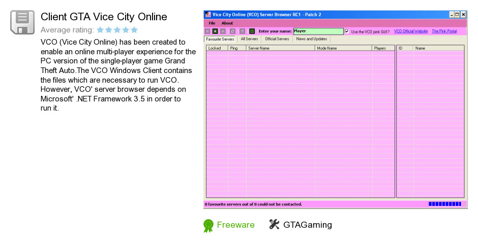 Client GTA Vice City Online
