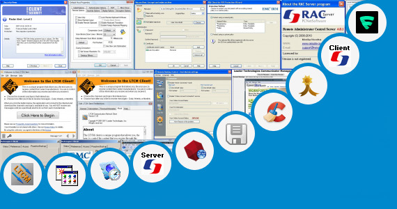 Software collection for Lexcom Security Control Client