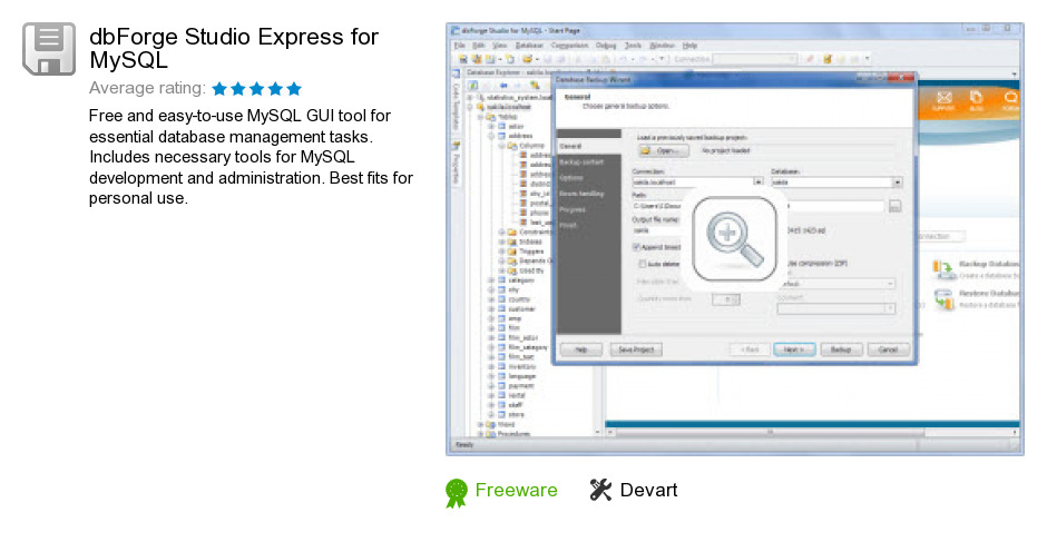 DbForge Studio Express for MySQL