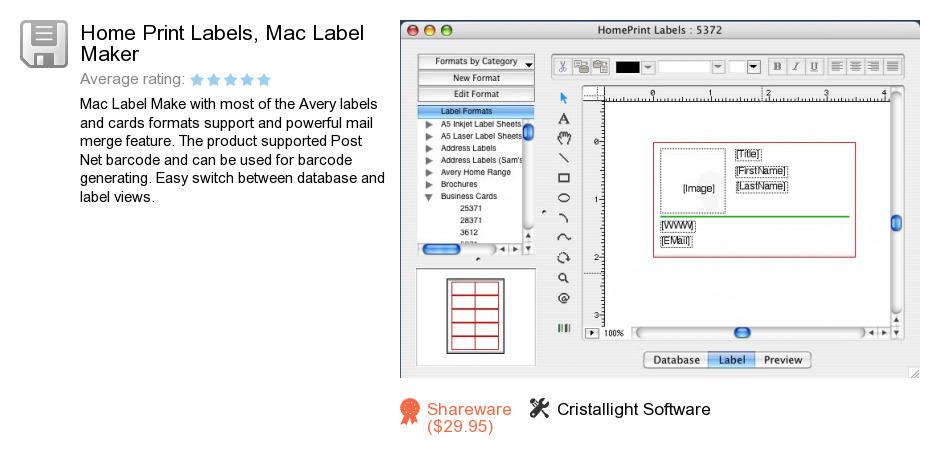 Home Print Labels, Mac Label Maker