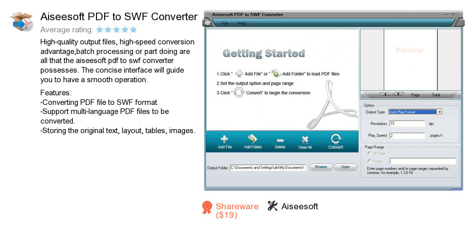Aiseesoft PDF to SWF Converter
