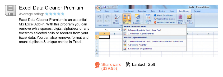 Excel Data Cleaner Premium