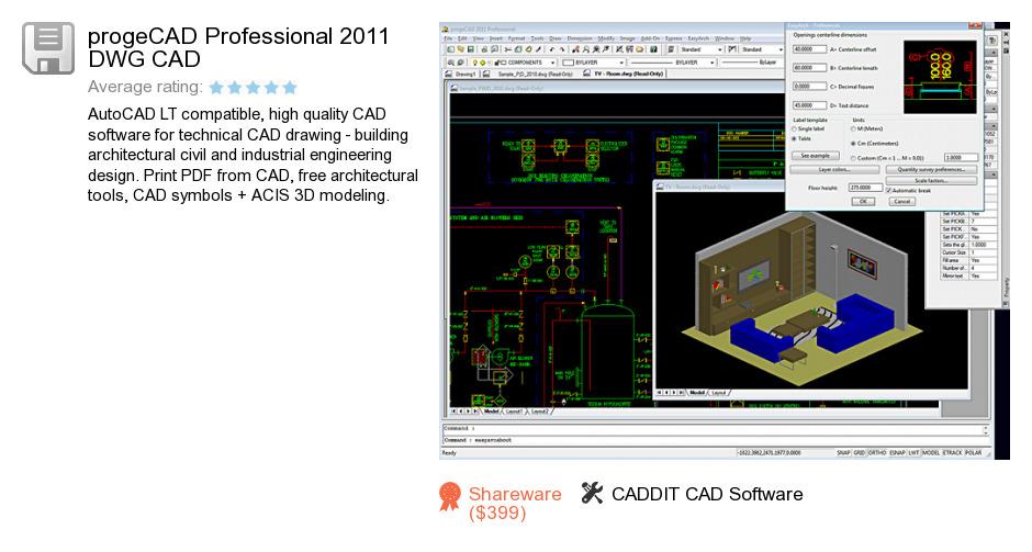 ProgeCAD Professional 2011 DWG CAD