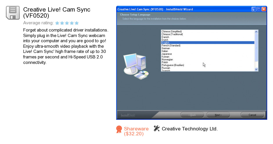 Creative Live! Cam Sync (VF0520)