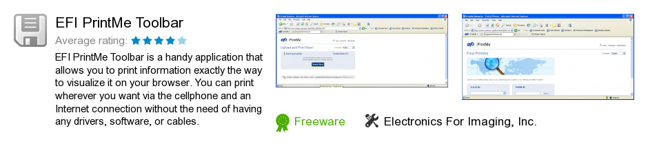EFI PrintMe Toolbar