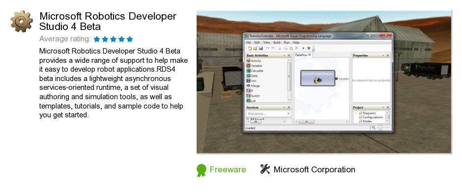 Microsoft Robotics Developer Studio 4 Beta