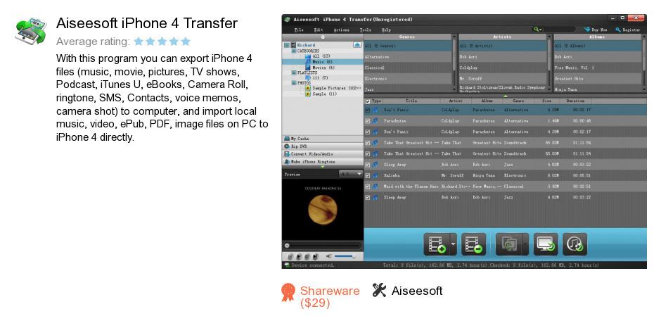 Aiseesoft iPhone 4 Transfer