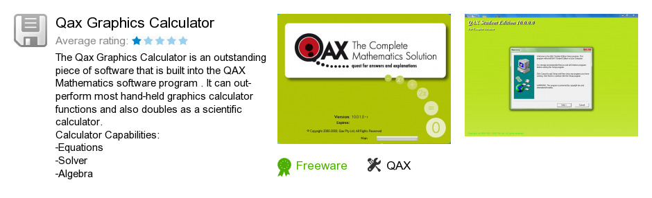 Qax Graphics Calculator