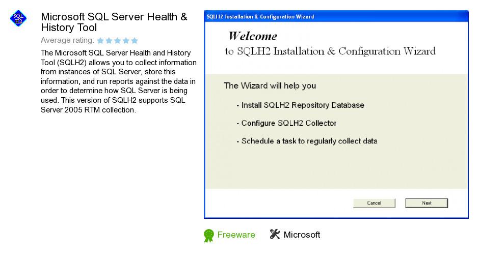 Microsoft SQL Server Health & History Tool