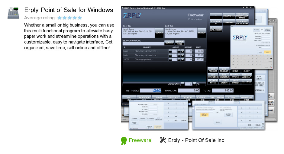 Erply Point of Sale for Windows