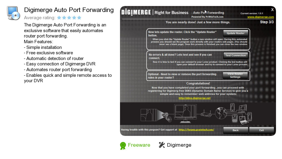 Digimerge Auto Port Forwarding