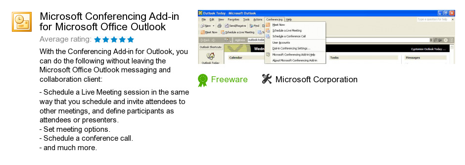 Microsoft Conferencing Add-in for Microsoft Office Outlook