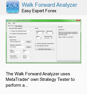 Walk Forward Analyzer