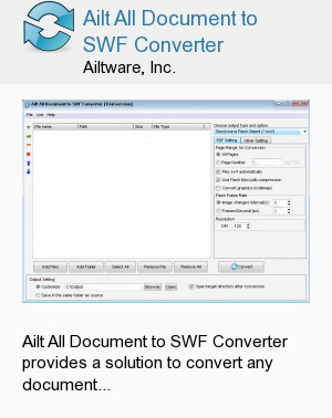 Ailt All Document to SWF Converter