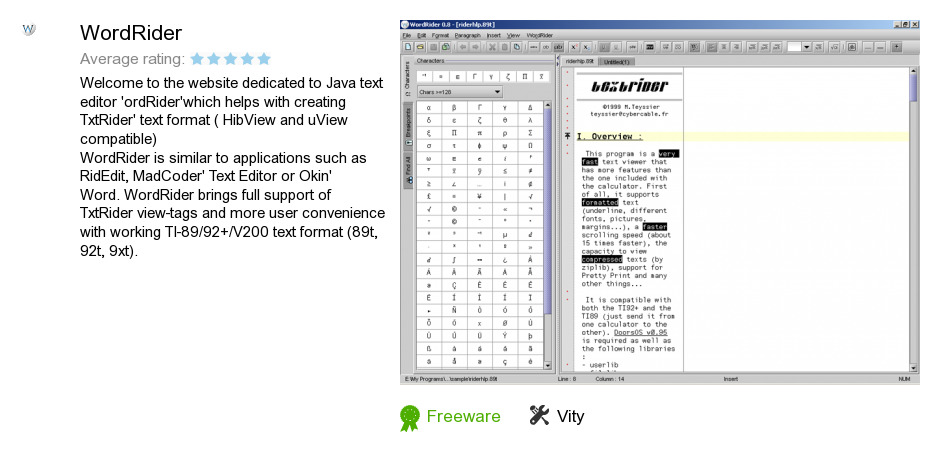 wordrider 0.8