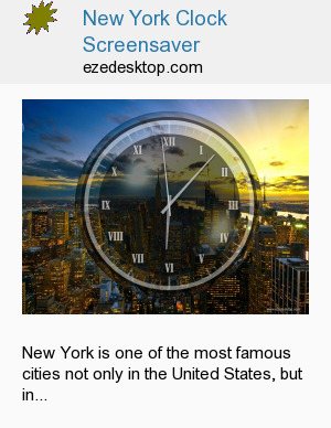 New York Clock Screensaver