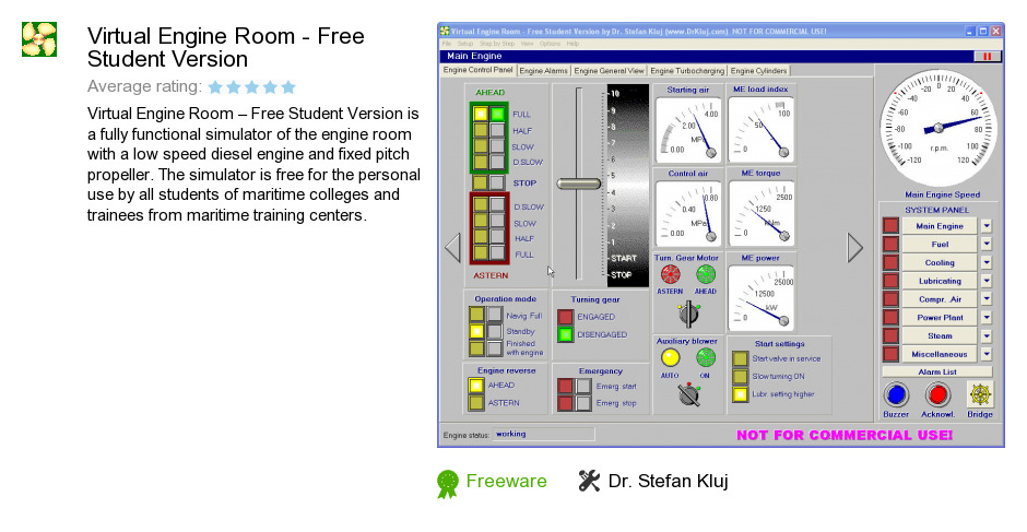 Virtual Engine Room - Free Student Version