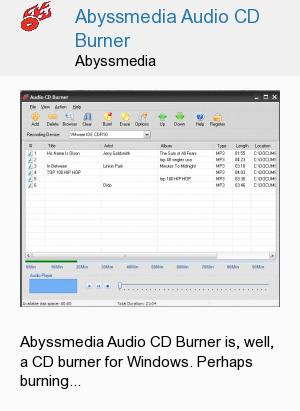 Abyssmedia Audio CD Burner