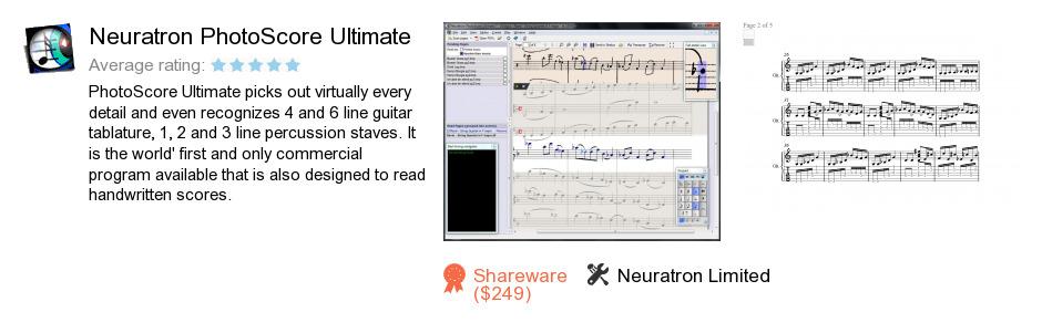 Neuratron PhotoScore Ultimate
