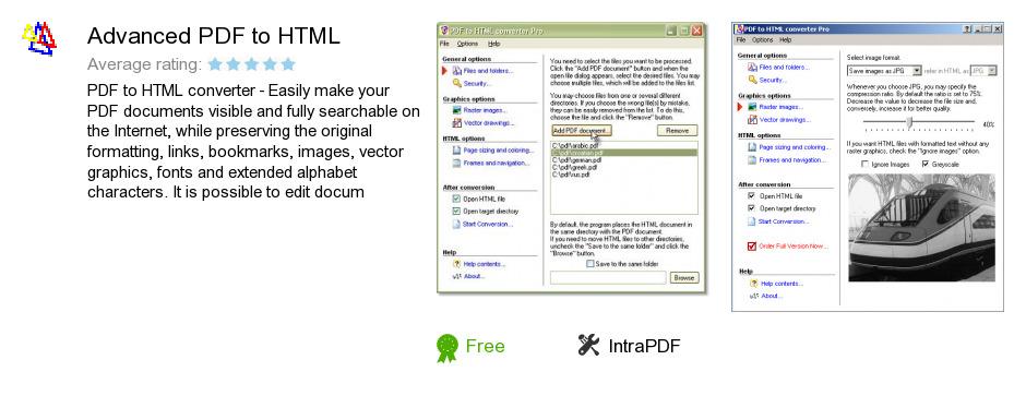 Advanced PDF to HTML