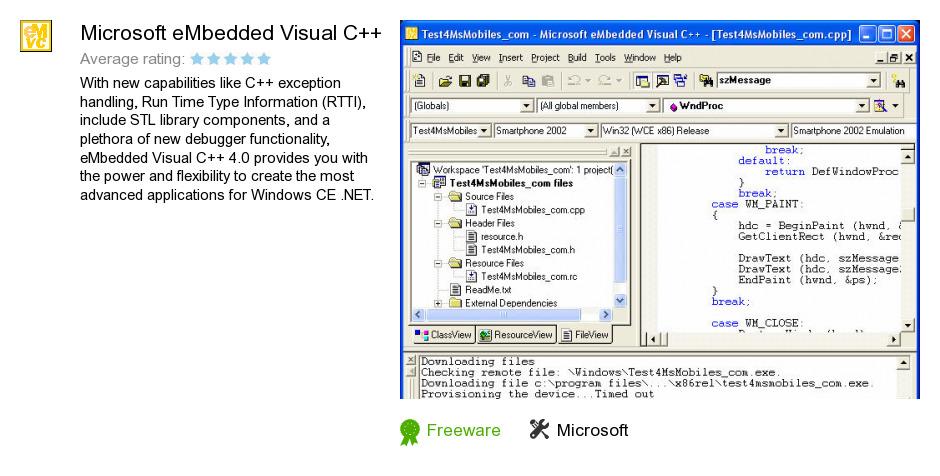 Microsoft eMbedded Visual C++