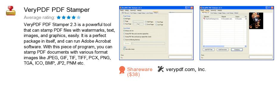 VeryPDF PDF Stamper