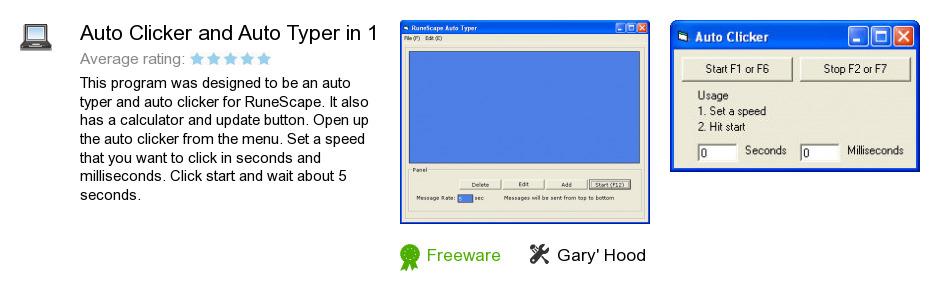 Auto Clicker and Auto Typer in 1