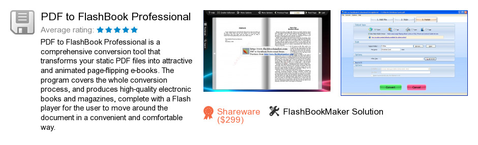PDF to FlashBook Professional