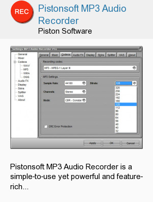 Pistonsoft MP3 Audio Recorder