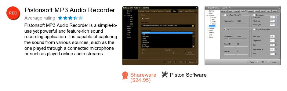 Pistonsoft MP3 Audio Recorder