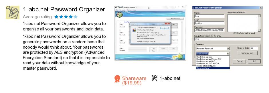 1-abc.net Password Organizer