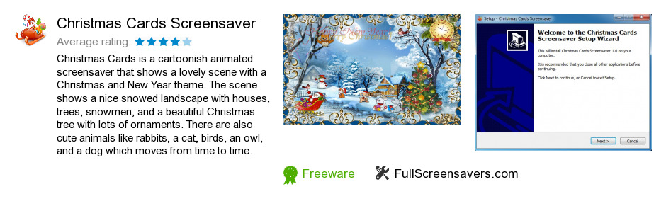 Christmas Cards Screensaver